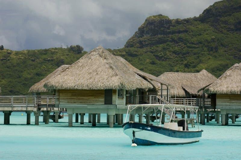 De bungalowwen van de luxe stock afbeelding