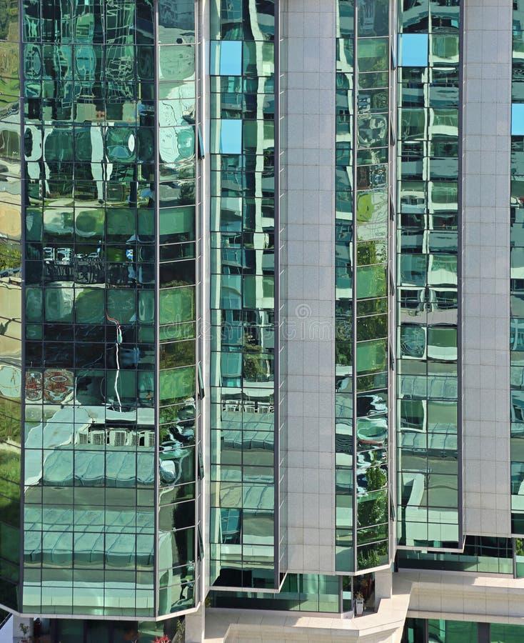 De bureaubouw Glas stock afbeeldingen