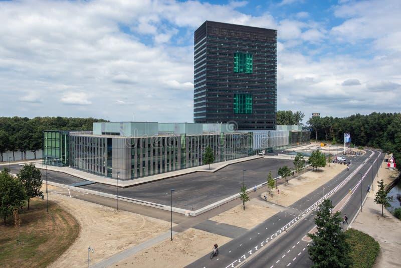 De bureaubouw Nederlands Ministerie van Infrastructuur en Waterbeheersing stock afbeelding