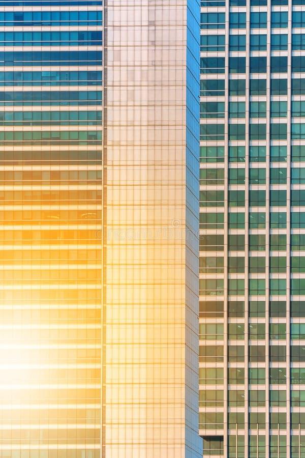 De bureaubouw venster dichte omhooggaand royalty-vrije stock afbeeldingen
