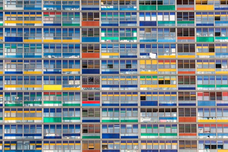 De bureaubouw Vensters stock fotografie