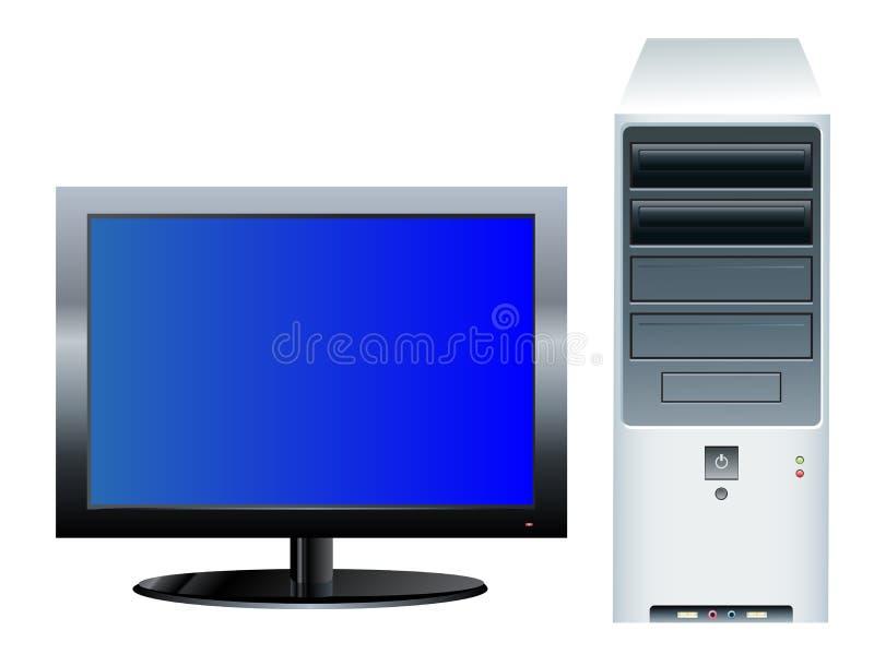 De Bureaucomputer van  stock illustratie