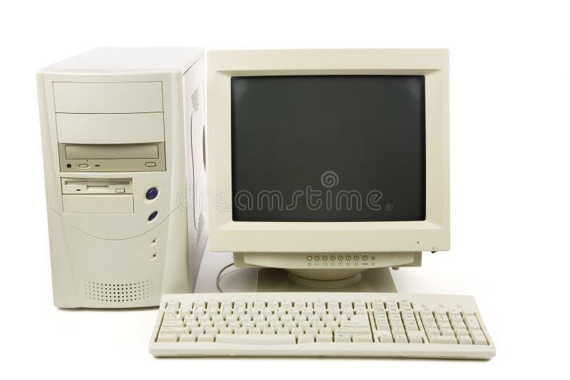 De Bureaucomputer van  stock afbeelding
