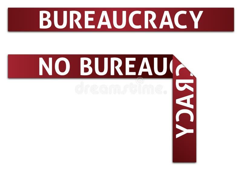 De Bureaucratische formaliteiten van de bureaucratie royalty-vrije illustratie
