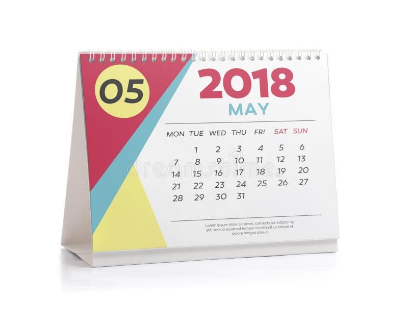 De bureaukalender 2018 mag stock foto's