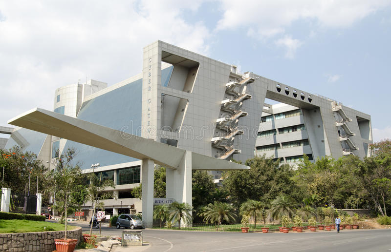 De bureaus van de Gateway van Cyber, Hyderabad royalty-vrije stock afbeelding