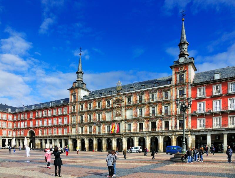 Burgemeester van het plein, Madrid, Spanje royalty-vrije stock afbeelding