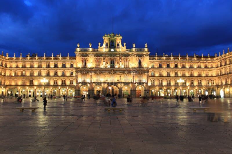 De Burgemeester van het plein in Salamanca stock afbeelding