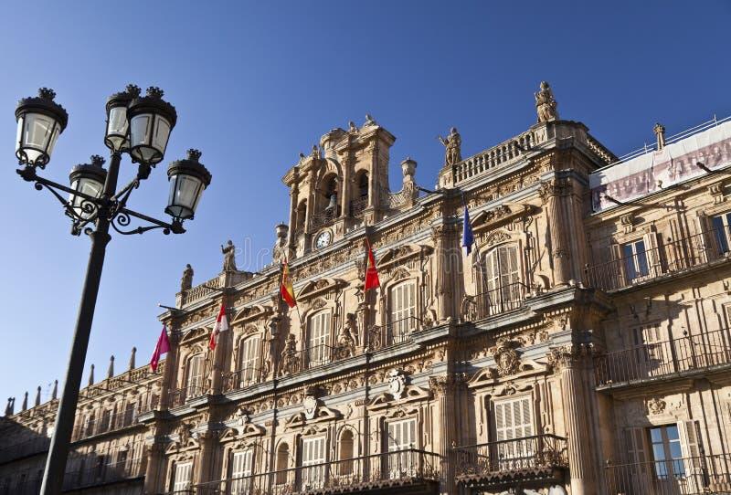 De Burgemeester van het Plein van Salamanca stock afbeelding