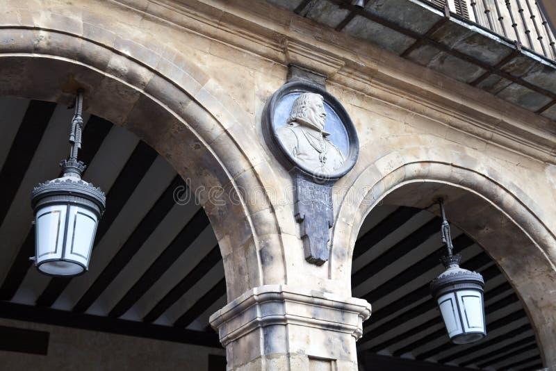 De Burgemeester van het Plein van Salamanca stock foto