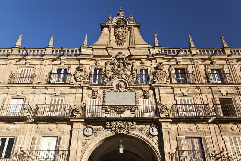 De Burgemeester van het Plein van Salamanca stock afbeeldingen