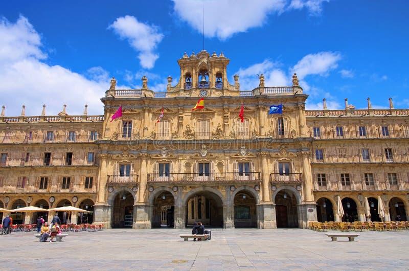 De Burgemeester van het Plein van Salamanca royalty-vrije stock afbeeldingen