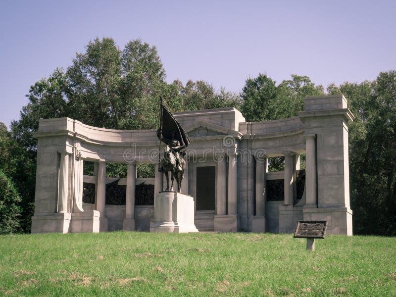 De Burgeroorlogmonument Vicksburg van de Mississippi stock foto
