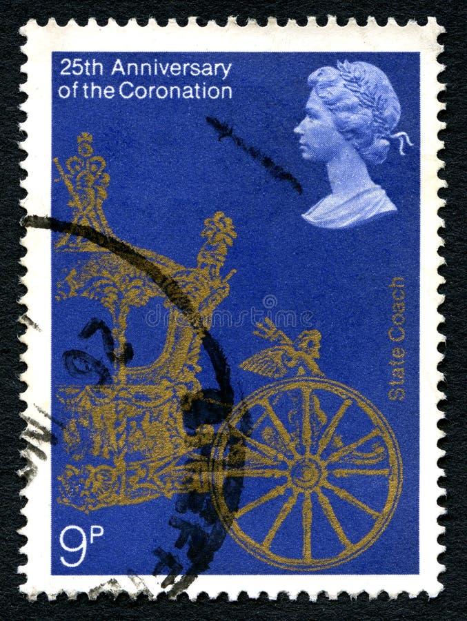 De Bus UK Postage Stamp van de staat stock afbeeldingen