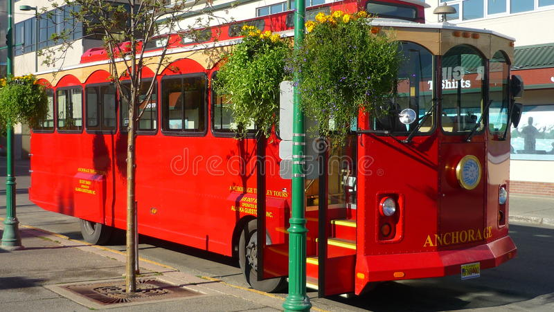 De Bus van Anchorage stock fotografie