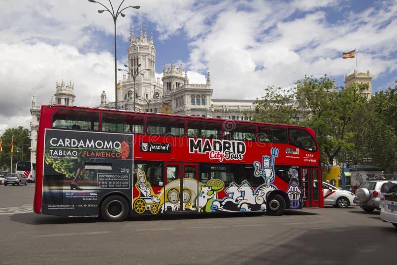 De bus van de de Stadsreis van Madrid in Spanje royalty-vrije stock foto's