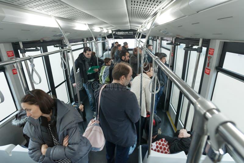De bus van de doorgang royalty-vrije stock afbeelding