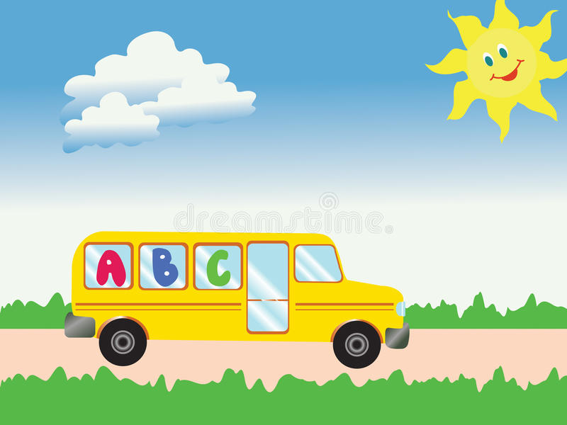 De bus van de school vector illustratie