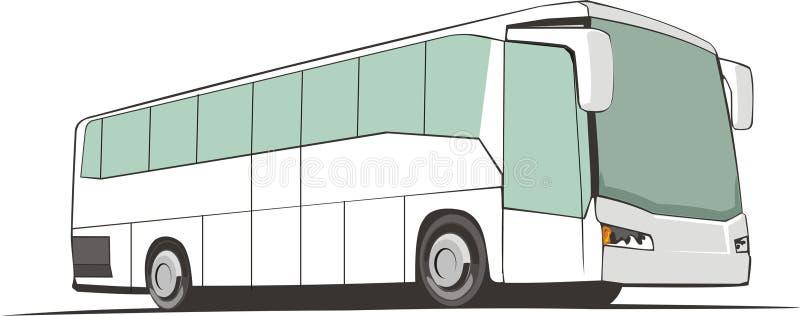 De bus van de toerist royalty-vrije illustratie