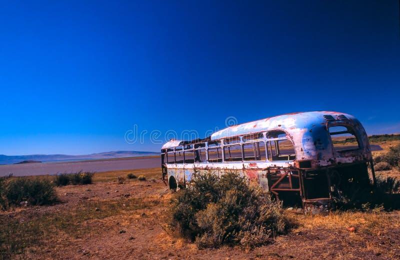 De bus van de woestijn royalty-vrije stock afbeelding