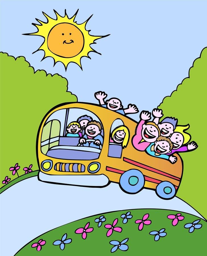 De Bus van de zonneschijn vector illustratie