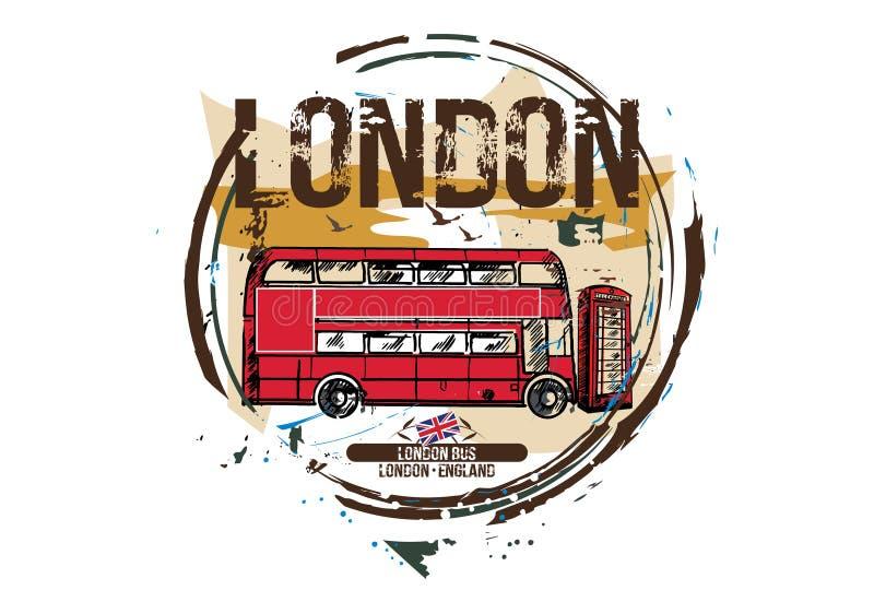 De bus van Londen, Londen/Engeland stock illustratie