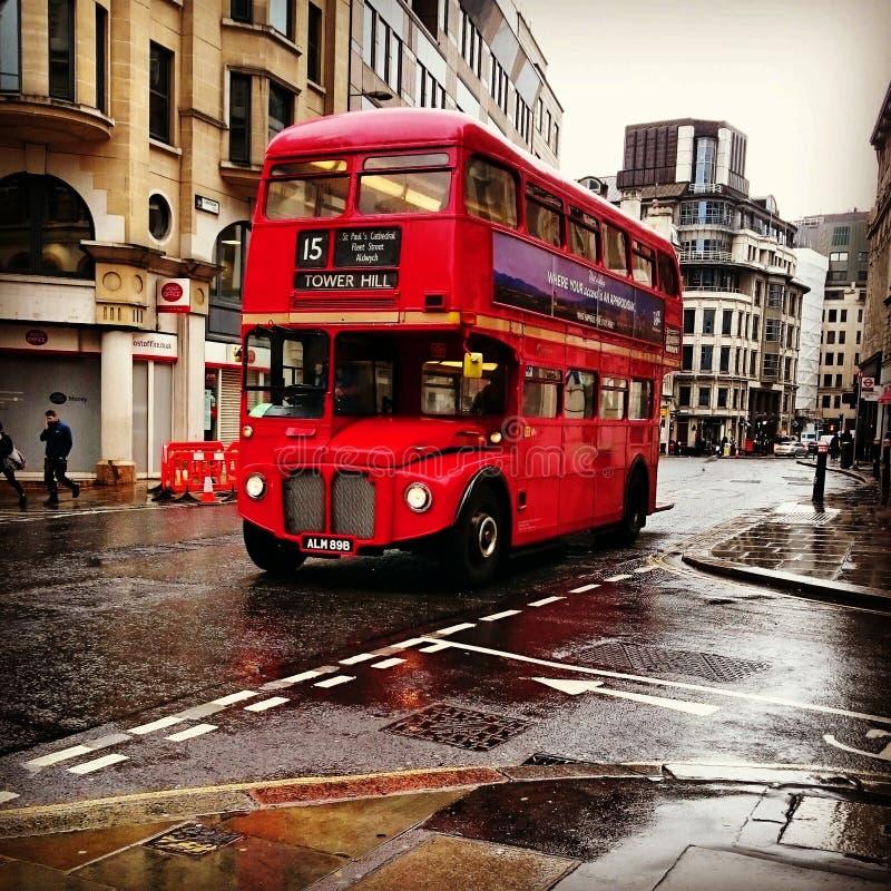 De bus van Londen klassiek royalty-vrije stock foto's