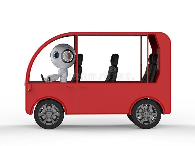 De bus van de robotaandrijving stock illustratie