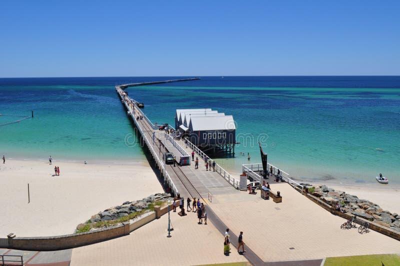De Busselton-Pierpijler Westelijk Australië stock foto's