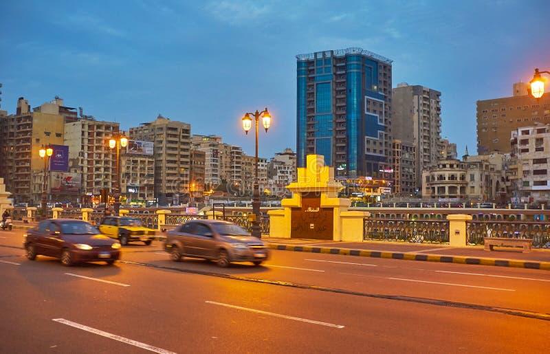 De buurt van Alexandrië ` s Stanley, Egypte stock foto's