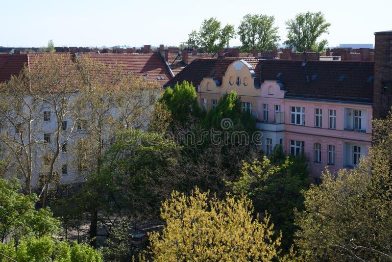 De buurt van Berlijn die van het achterbalkon wordt bekeken royalty-vrije stock foto's
