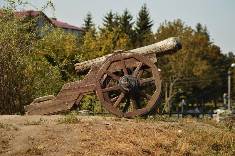 De buurt van het kasteel in de stad van Dubno, Rivne-gebied , De Oekraïne royalty-vrije stock afbeelding