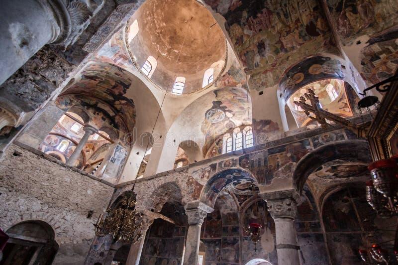De Byzantijnse Kerk van Mystrasfresko's royalty-vrije stock fotografie