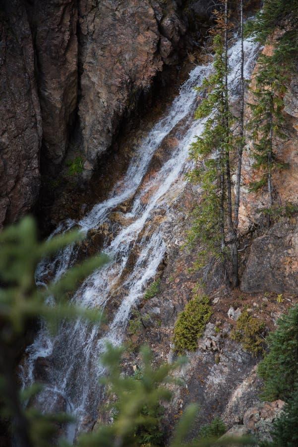 De cabine valt dichtbij Vail, Colorado royalty-vrije stock fotografie