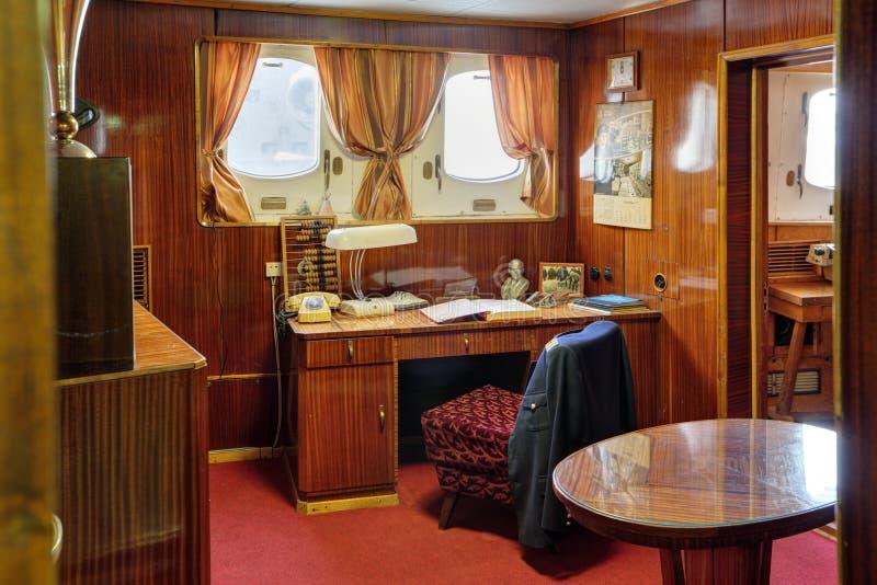 De cabine van de kapitein stock foto