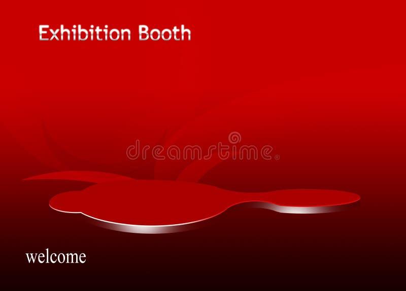 De cabine van de tentoonstelling stock illustratie