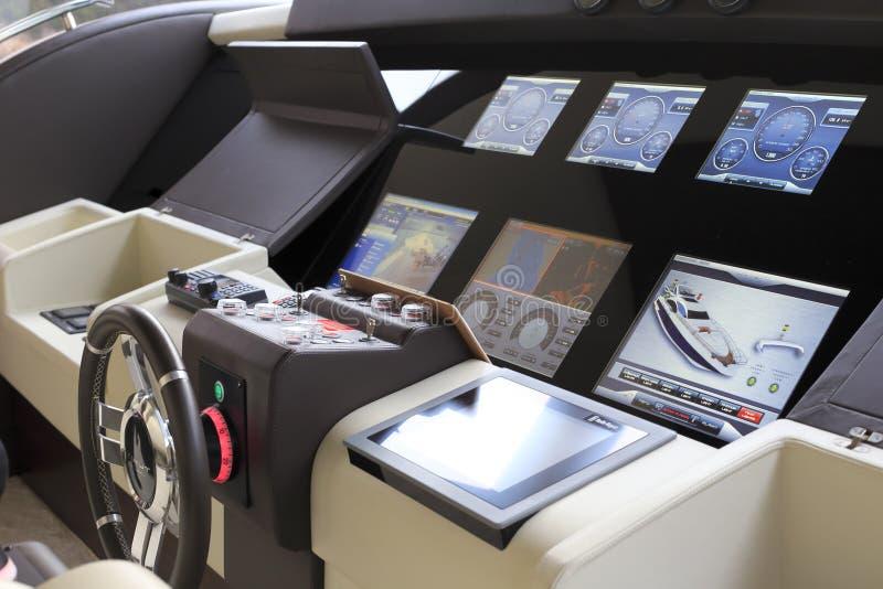 De cabine van het luxejacht royalty-vrije stock fotografie