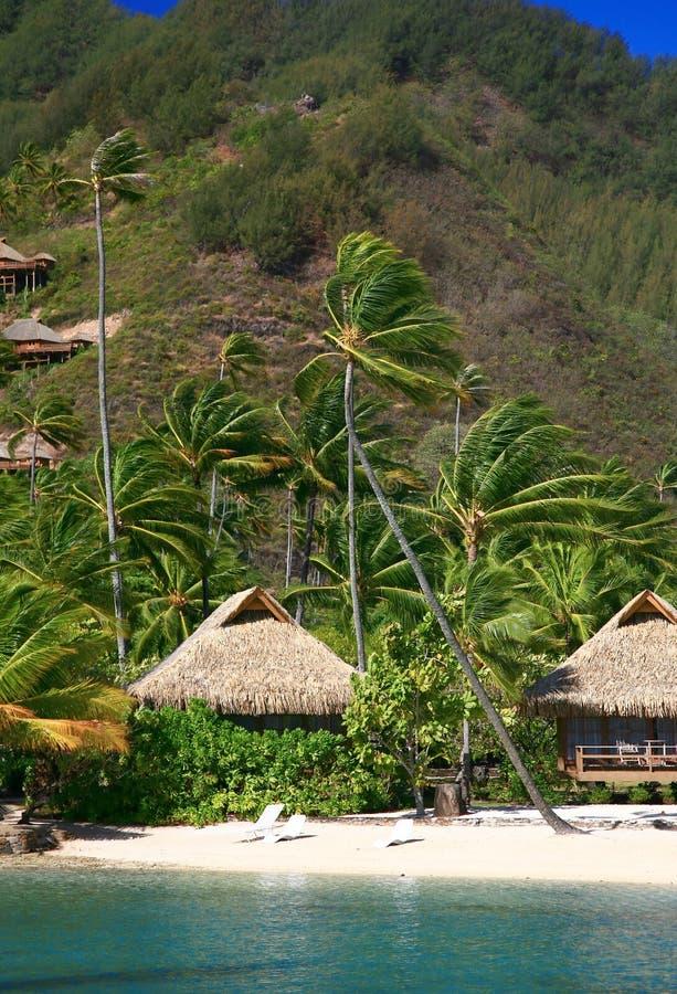 De cabine van het strand stock foto