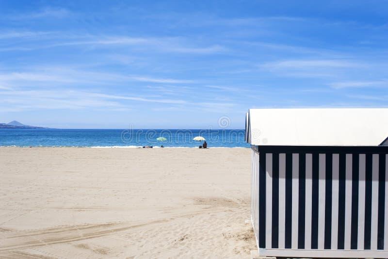 De Cabine van het strand stock fotografie