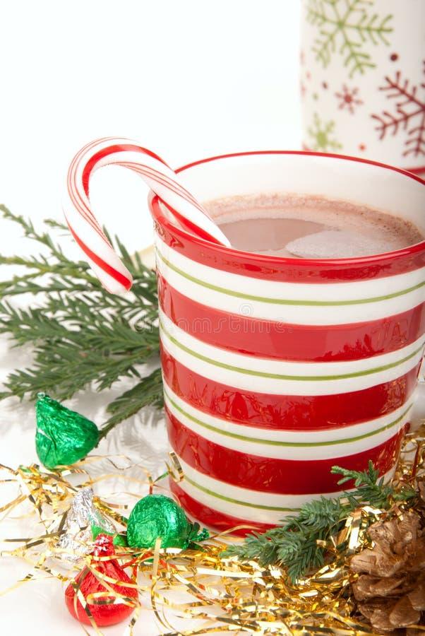 De cacaodrank van Kerstmis royalty-vrije stock afbeelding