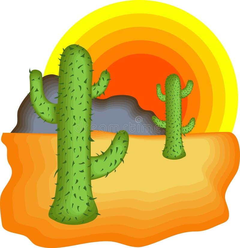 De Cactus van de woestijn vector illustratie