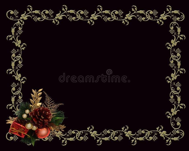 Or de cadre de Noël sur le noir illustration libre de droits