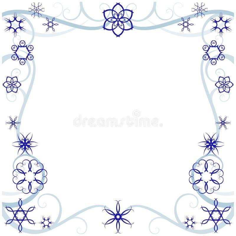 de cadre l'hiver swirly illustration libre de droits