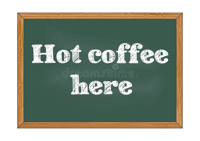 De café illustration chaude de vecteur d'avis de tableau ici illustration stock
