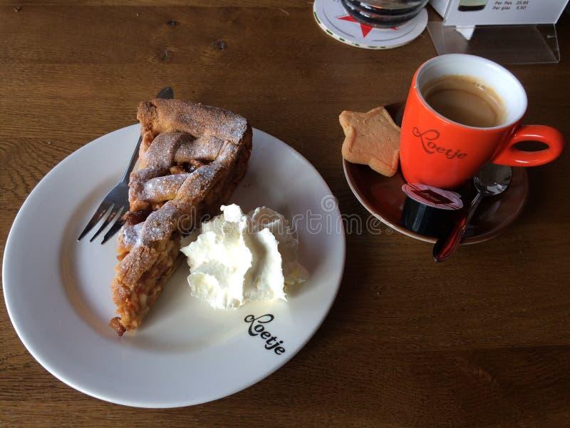 De Cake en de Koffie van Apple in Amsterdam stock fotografie