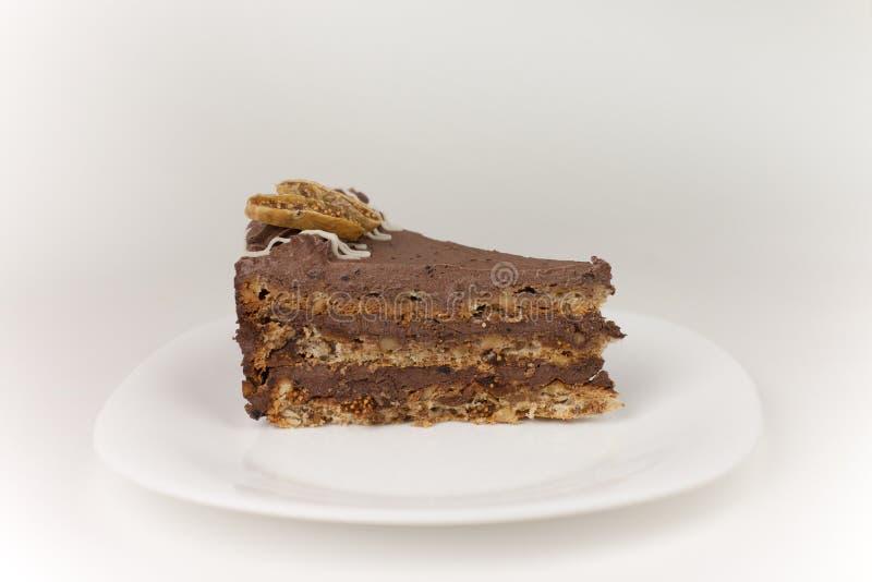 De cake van Chocolat en van fig. stock foto's