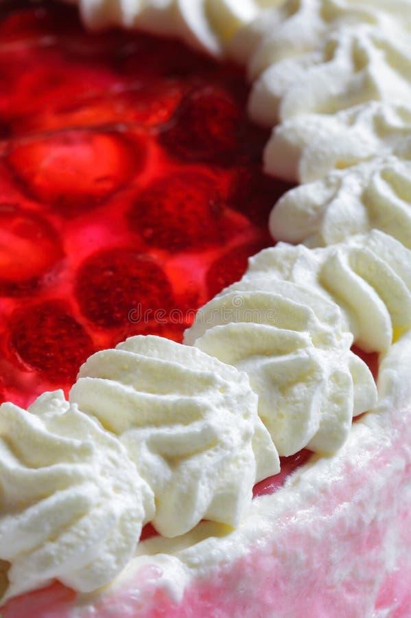 De cake van de aardbei stock afbeeldingen