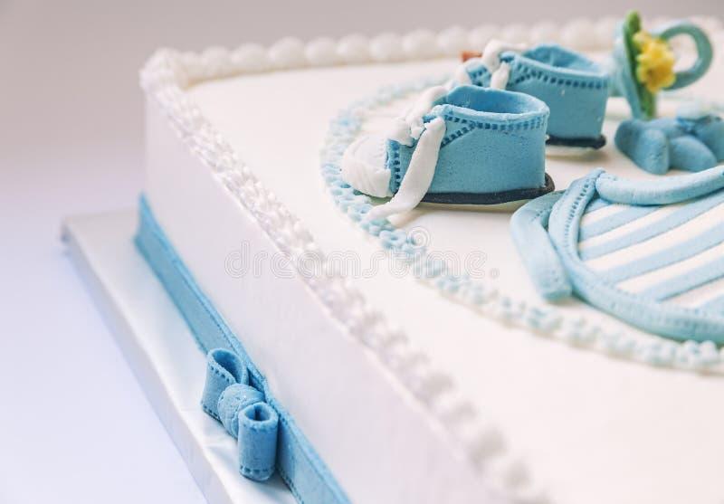 De cake van de babyverjaardag royalty-vrije stock foto