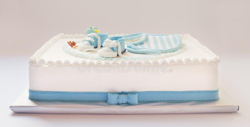 De cake van de babyverjaardag stock fotografie