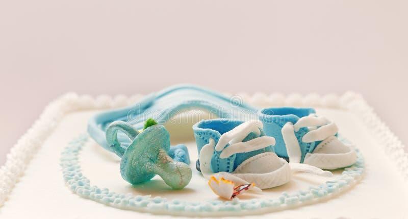 De cake van de babyverjaardag stock foto's